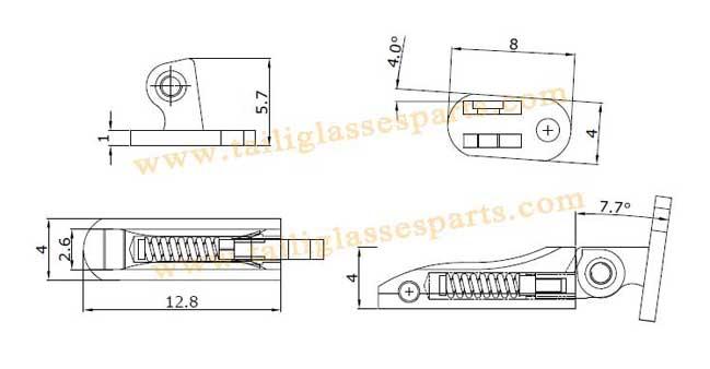 drawing of spring hinge TSH-63