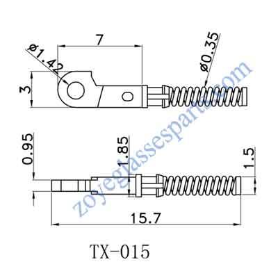 single spring insert for eyewear spring hinge repairing