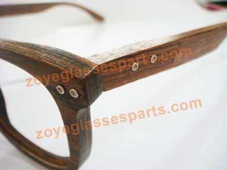 duable double spring hinge for wood sunglasses