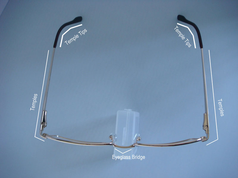 airview of eyeglass frame