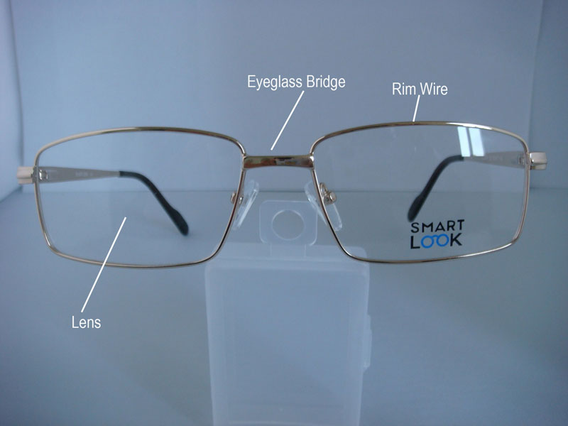 front view of eyeglass frame