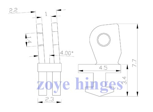 front hinge replacement for broken spring hinges