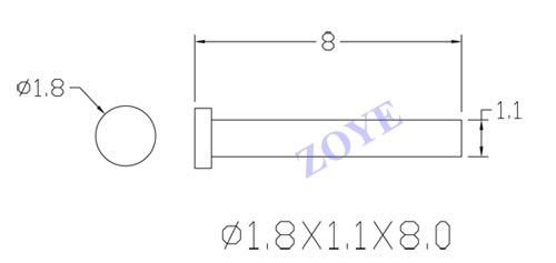 8mm metal pin for eyeglass hinge from ZOYE