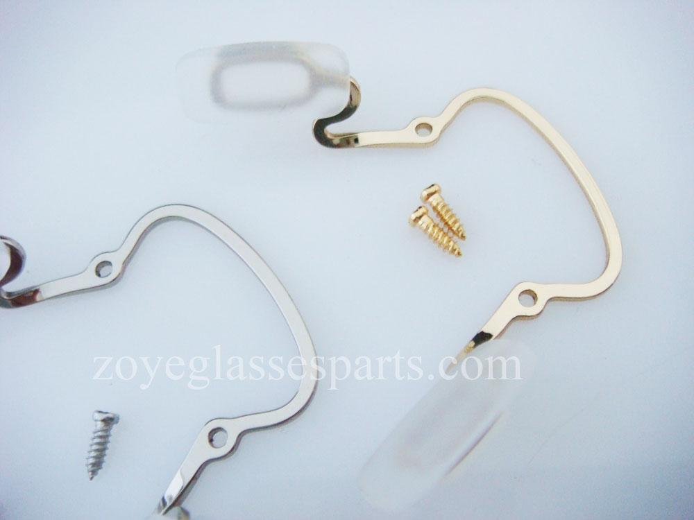 pad arm bridges for plastic wood eyewear frame TP-175