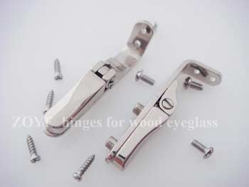 clamping screwing on spring hinge for wood bamboo frames TSH-75