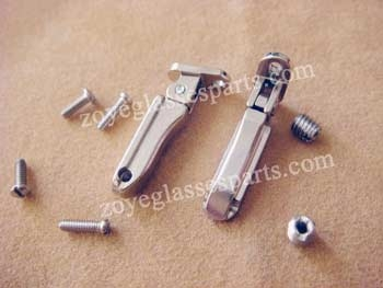 clamping screwing on spring hinge for wood bamboo frames TSH-63