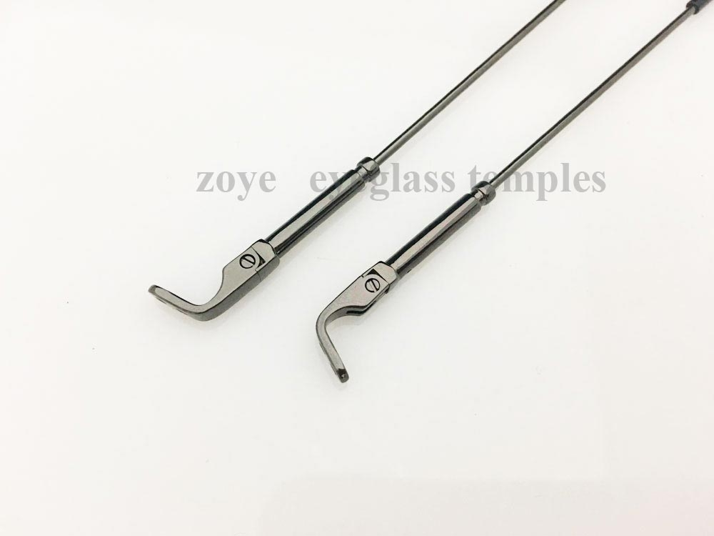 eyeglass temples spring hinges with tortoise acetate temple tips /